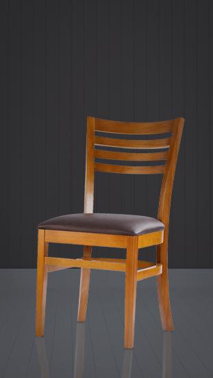 Cadeira em madeira maciça da Dellart